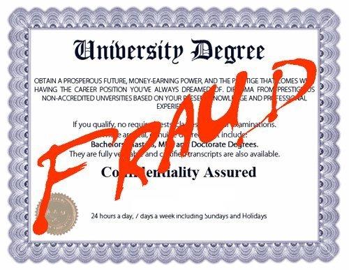 degree fraud